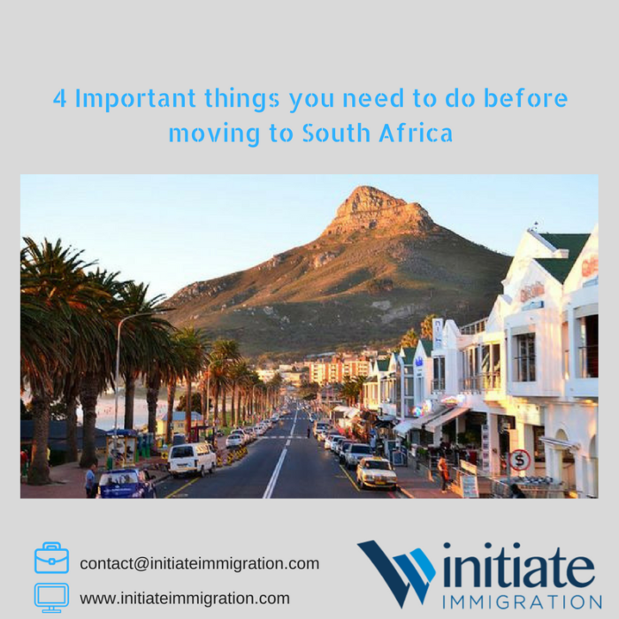 4 Important things you need to do before making the move to South Africa
