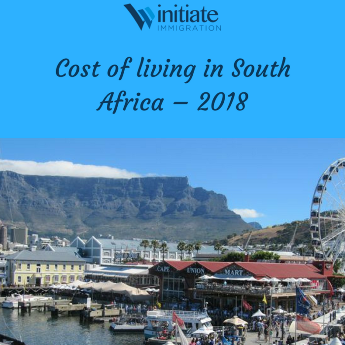 Cost of living in South Africa – 2018 (2)